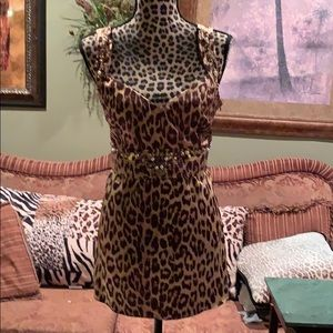 Beaded Cheetah woman's top OBO